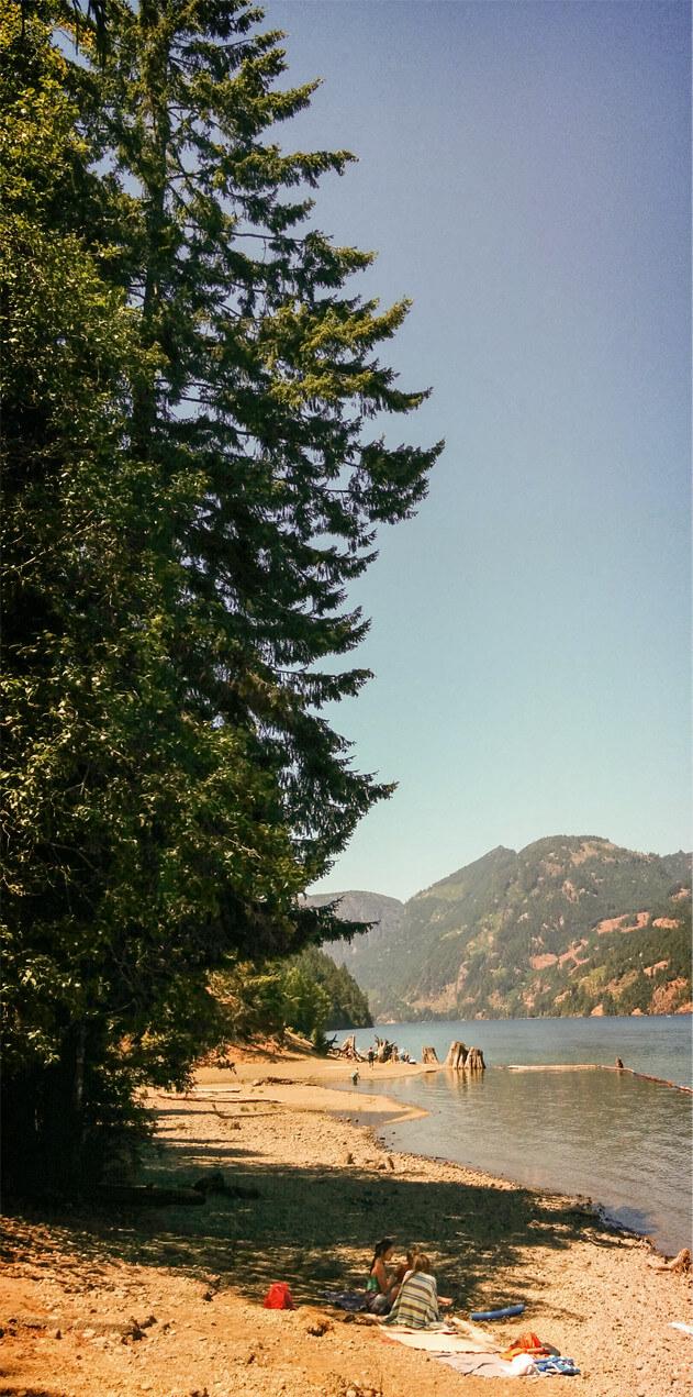 A beautiful day at Comox Lake